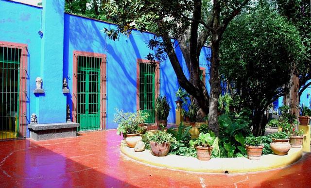 """Frida Kahlo's hus """"Casa Azul""""  (Det blå hus)"""
