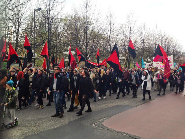 SACs 1. maj 2015 demo i Stockholm