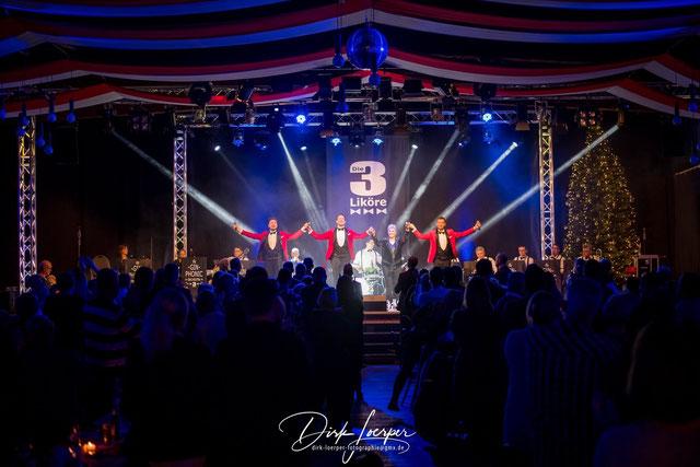 D3L BB Konzert 004 - Die 3 Liköre & Gäste - Daniel, Arvid, Linda, Frank (vlnr)