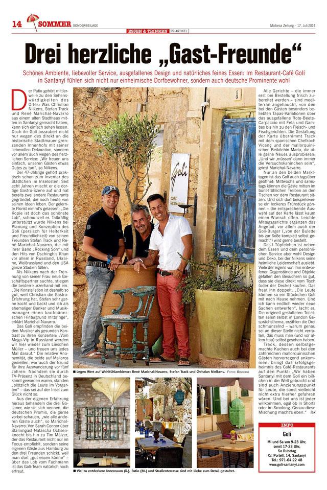 Quelle: Mallorca Zeitung 17.07.2014