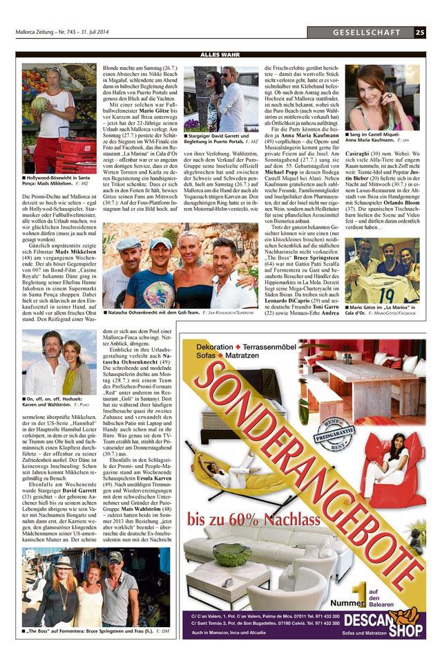 Quelle: Mallorca Zeitung 31.07.2014