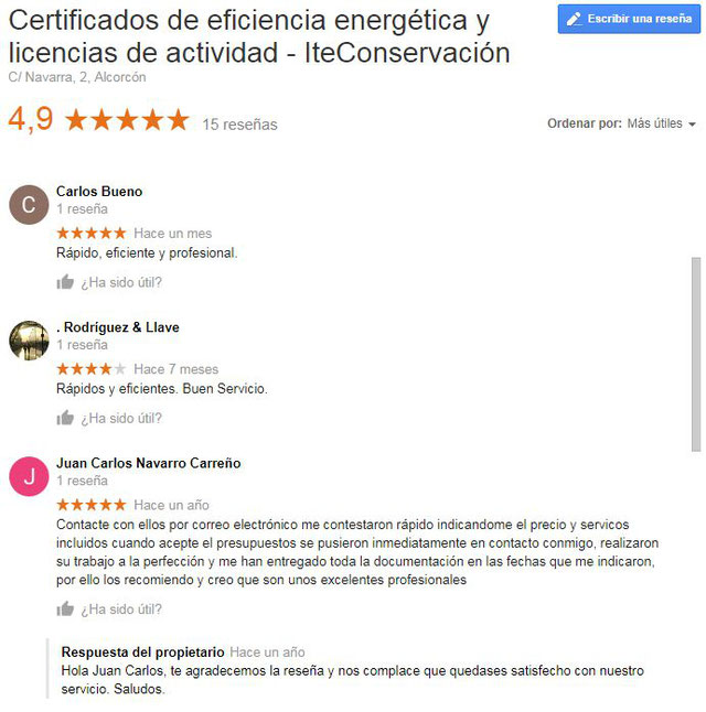 opinion certificados energeticos