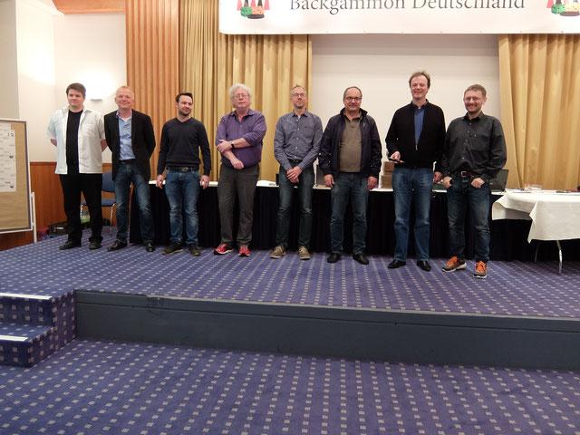von links: Marcel, Volker, Andreas, Jürgen S., Maik, Kimon, Dankwart und Jürgen O.