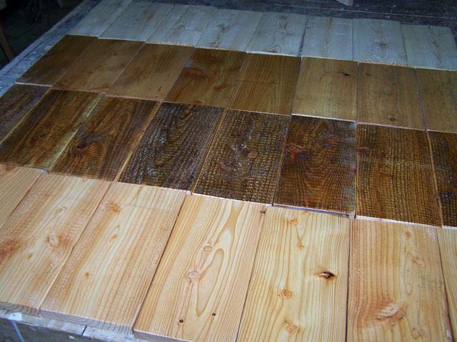 Muster von Terrassen Böden - hier Holzbohlen