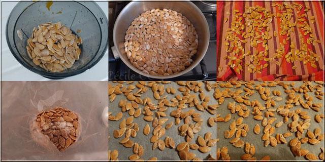 recette en image de graines de potiron pour l'apéro