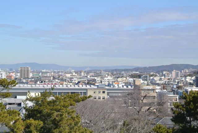 岡崎城からの眺め