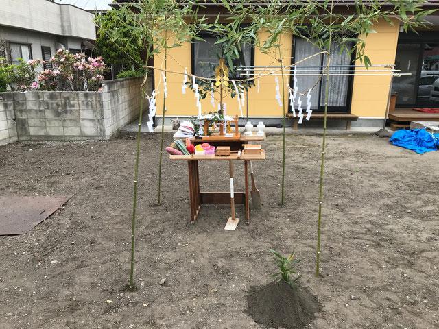 栃木県のバルコニー菜園のある家の家づくりの様子/地鎮祭