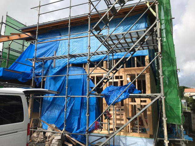 耐力面材の施工前の様子