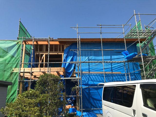 塗装後の建物全体の写真