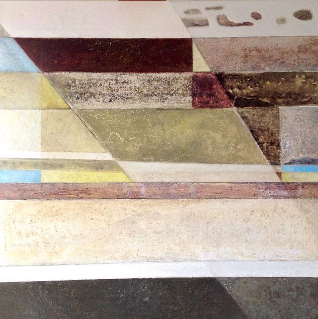 Estratos - Acrílico sobre lienzo - 100H x 100W x 3 cm