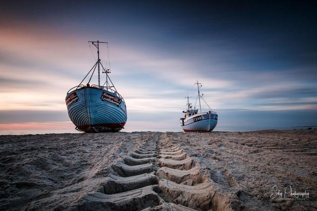 Dänemark / Nordjütland / Vorupør, Fischerboot, Langzeitbelichtung, 2015, © Silly Photography