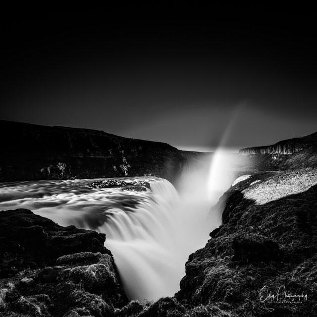 Island, Gullfoss, Wasserfall, Langzeitbelichtung, 2015, © Silly Photography