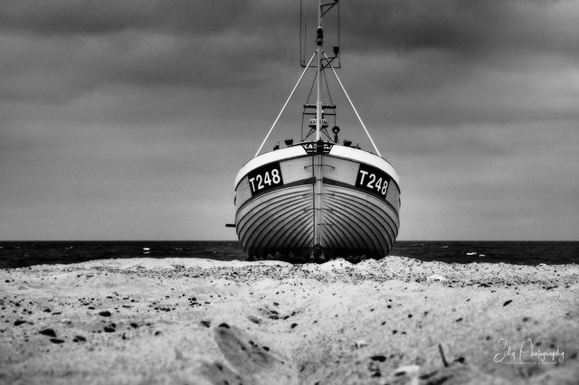 Dänemark / Nordjütland / Vorupør, Fischerboot, 2014, © Silly Photography