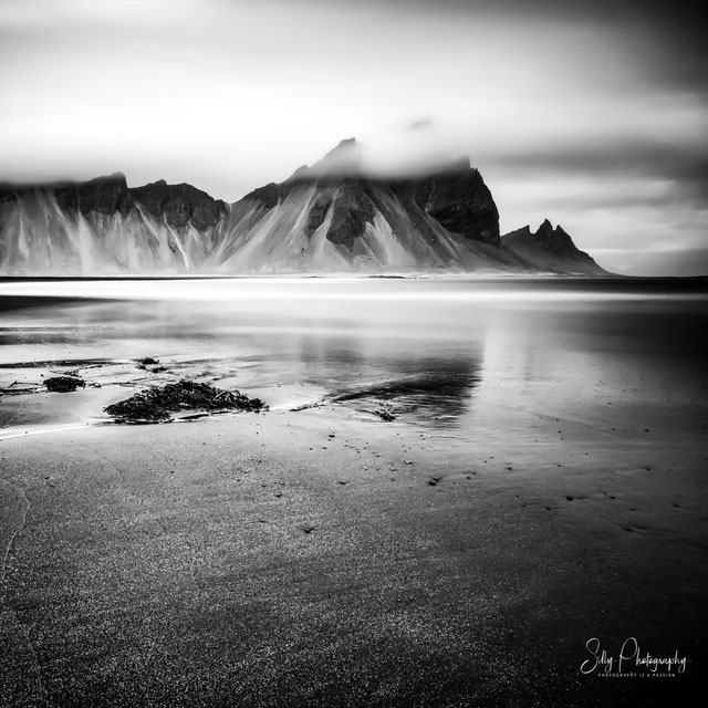 Island, Vestrahorn, Stokksnes Strand, Langzeitbelichtung, 2015, © Silly Photography