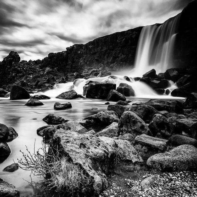 Island, Öxarárfoss, Wasserfall, Langzeitbelichtung, 2015, © Silly Photograph