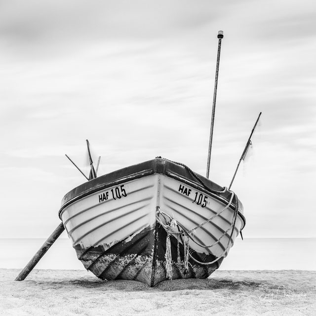 Ostsee / Scharbeutz, Fischerboot, Langzeitbelichtung, 2015, © Silly Photography