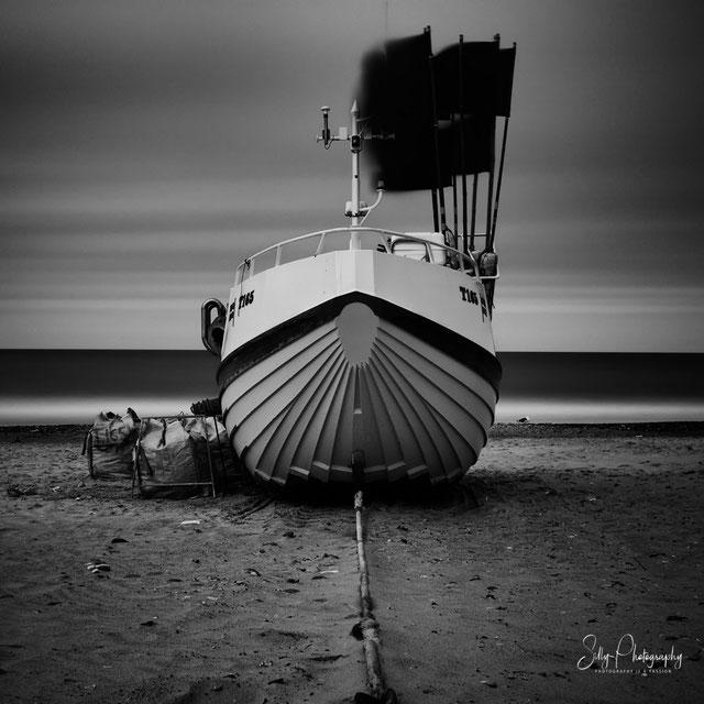 Dänemark / Nordjütland / Vorupør, Fischerboot, Langzeitbelichtung, 2014, © Silly Photography