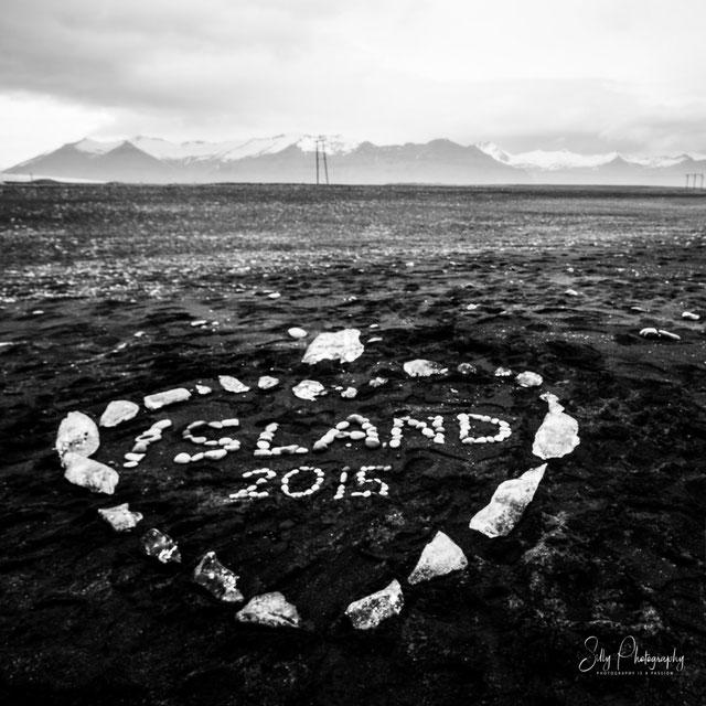 Island, Jökulsárlón, schwarzer Sandstrand, 2015, © Silly Photography