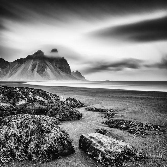 Island, Vestrahorn, Stokksness Beach, Langzeitbelichtung, 2015, © Silly Photography