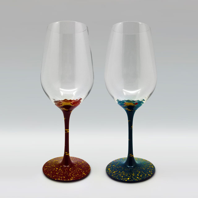 JAPAN lacquer wineglass URUSHI