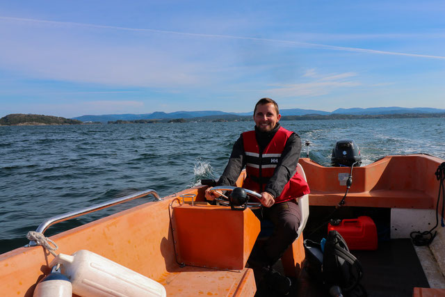 Boot fahren auf der Nordsee bei Bergen