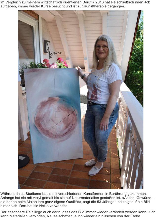 Schlössle Heiligenzell Kunst Ausstellung Bernadette Vögele