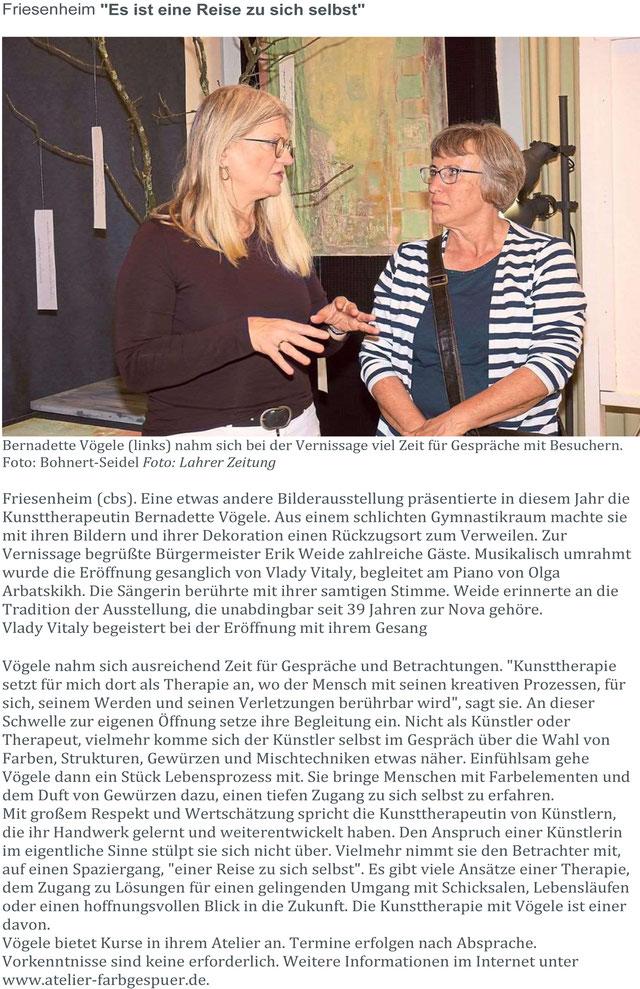 Kunstausstellung Nova Friesenheim Bernadette Vögele