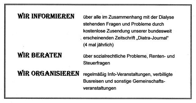 Informationen über die Aufgaben des Vereins