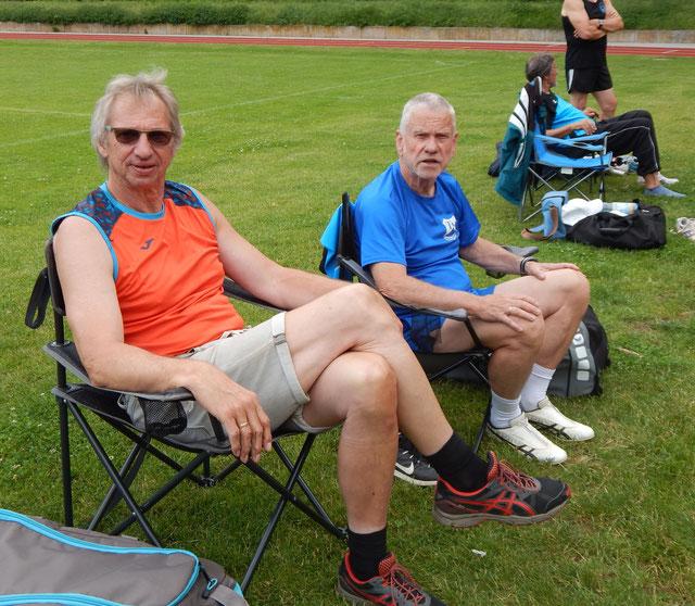 Holger Knie (links) und Günter Metz in der Vorbereitungsphase.