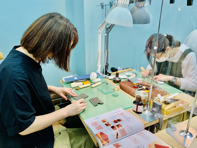 レザークラフト大阪教室9
