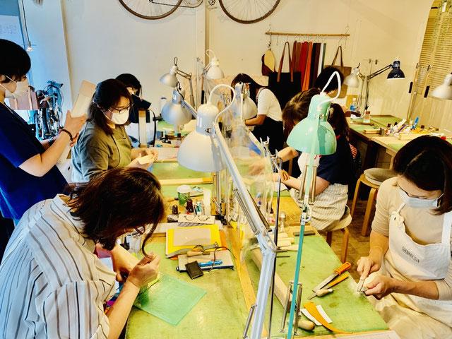 ヨコハマセリのエレザークラフト教室2