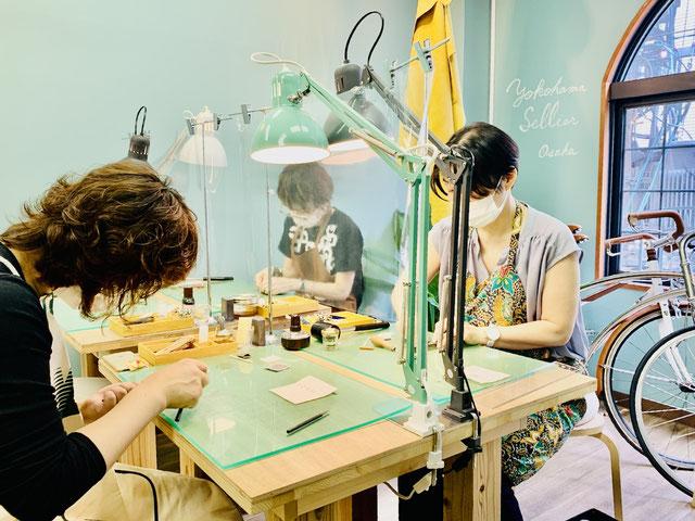 レザークラフト大阪心斎橋教室3