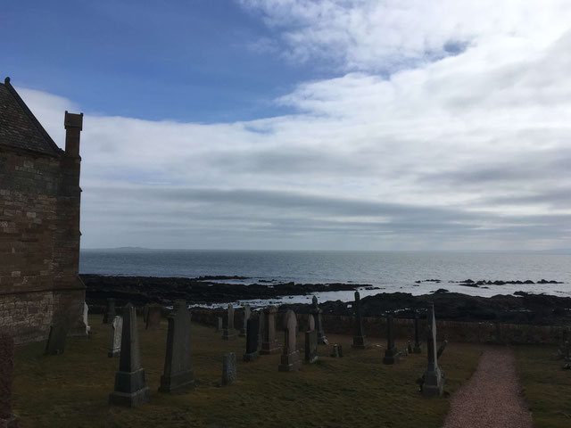 Cemetery with a view in St. Monans