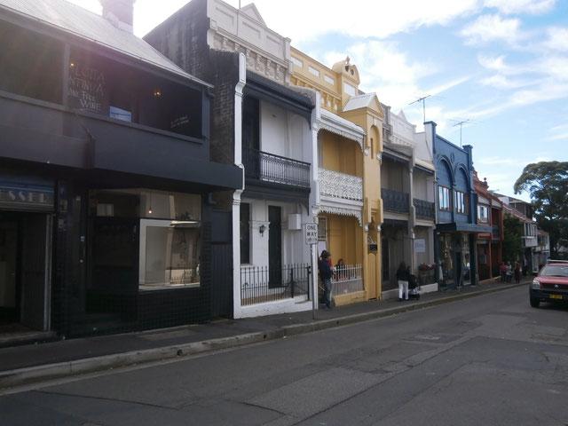 シドニーらしいテラスハウス。無電柱