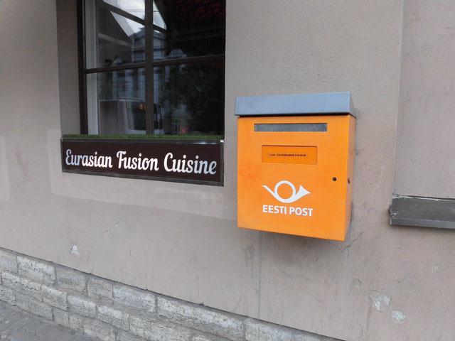 エストニア タリンで見かけたポスト