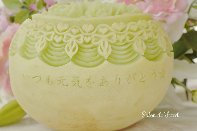 カービング スイカ 教室 フルーツ 彫刻 大阪 オーダー メロン