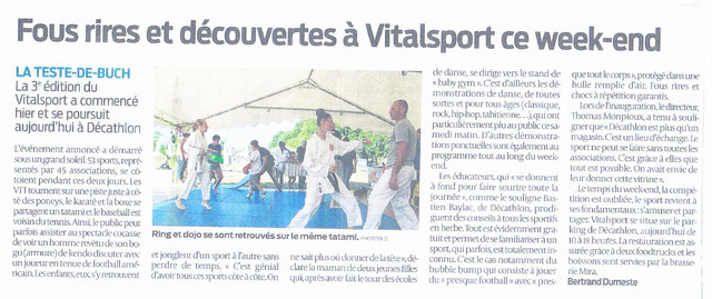initiations au Vitalsport 2018