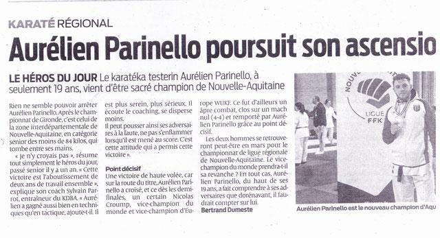 résultats du championnat nouvelle Aquitaine 2019