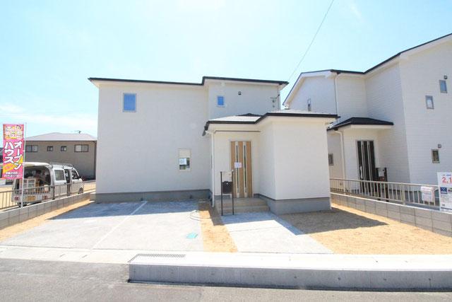 岡山県瀬戸内市邑久町山田庄の新築 一戸建て 分譲住宅の外観写真