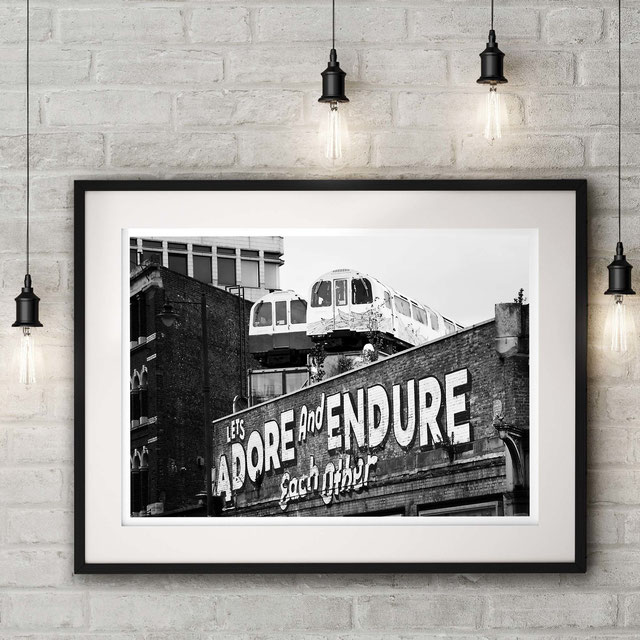 Streetart interpretation, London urban photographic art print  'Adore' by PASiNGA