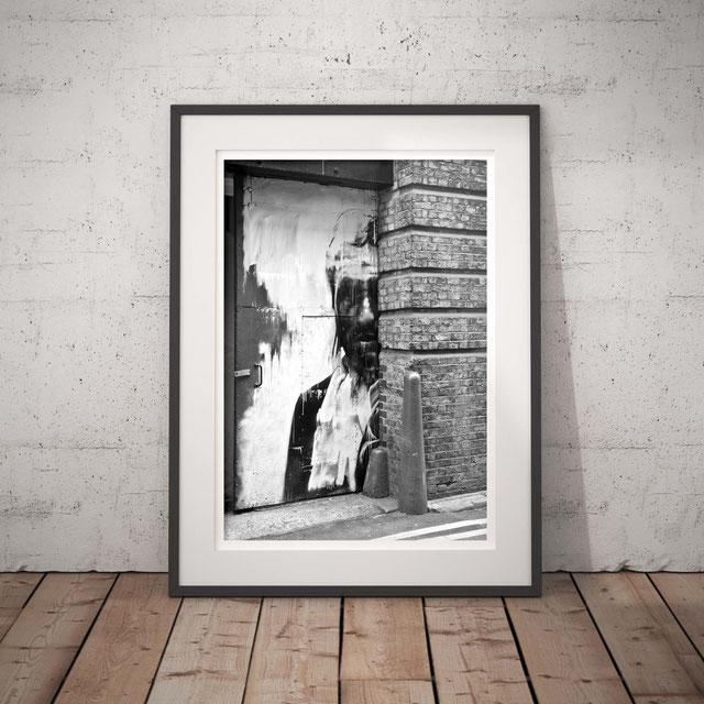 Streetart interpretation, London urban photography 'Door Portrait' by PASiNGA
