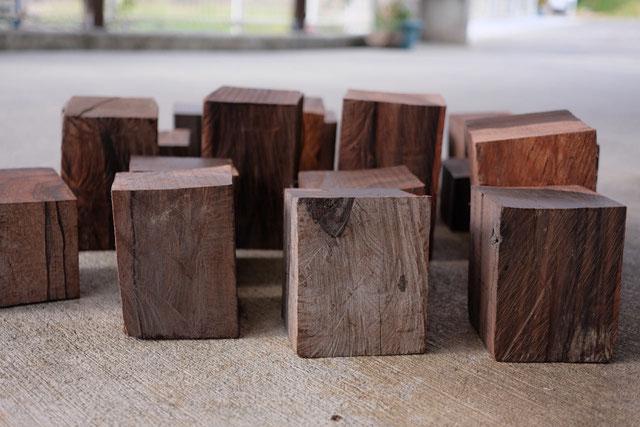黒檀の角材原木