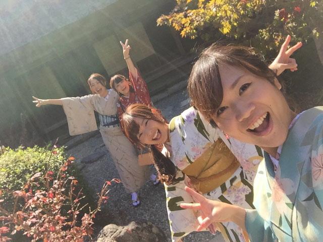 卒業旅行は下呂温泉合掌村で着物体験