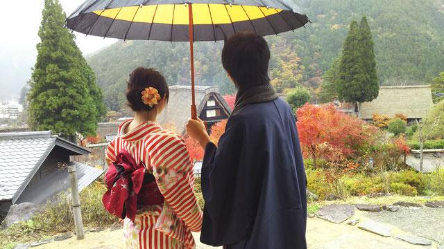 和服姿de散策in下呂温泉&合掌村では、和傘のレンタルもいたします