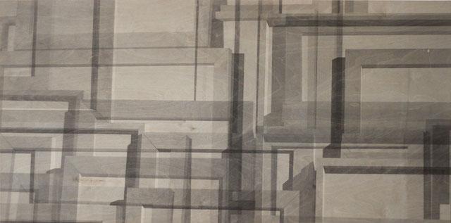 Acryl auf Holz, 70 cm x 140 cm. 2012.