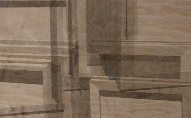 Acryl auf Holz, 37 cm x 60 cm. 2012.