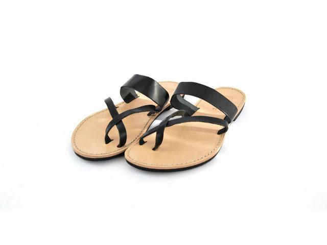faire leder sandaletten schwarz