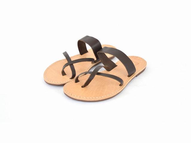 faire leder sandaletten braun