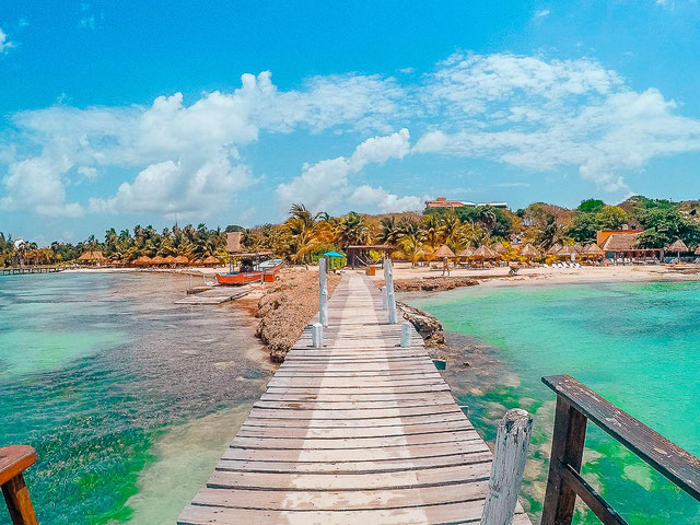 Kleiner Strand auf Isla Mujeres