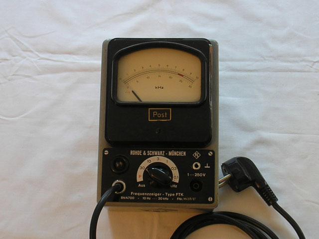 Rohde & Schwarz  Frequenzanzeiger Typ. FTK / BN 4700 - Post. Fertigung 1968
